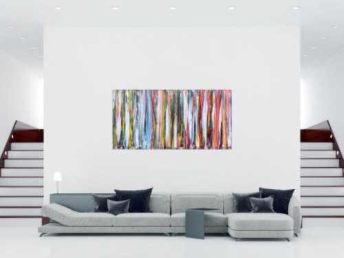 Abstraktes Acrylbild schlicht modern bunt