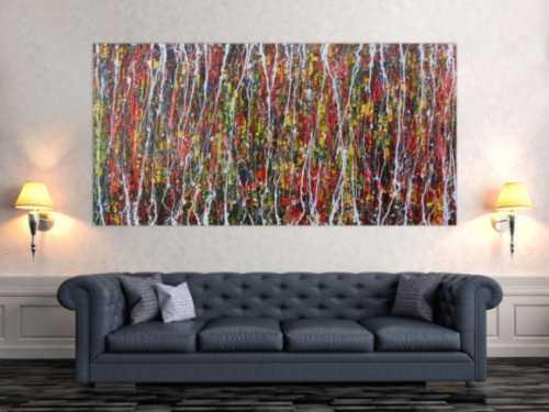 Modernes Acrylgemälde abstrakt und bunt