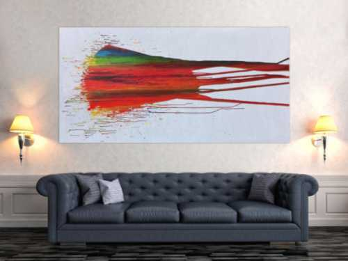 Modernes Abstraktes Gemälde Acrylbild bunt