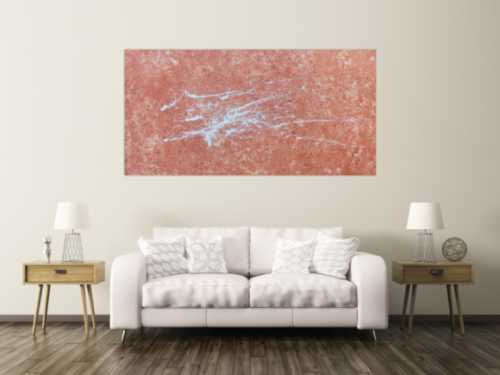 Abstraktes Acrylbild modern mit Fleck