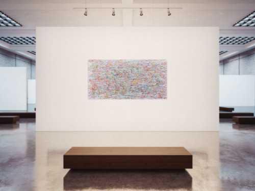 Buntes Acrylgemälde abstrakt modern Flecken