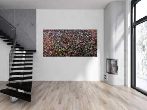 Abstraktes Acrylbild mdern bunte Flecken