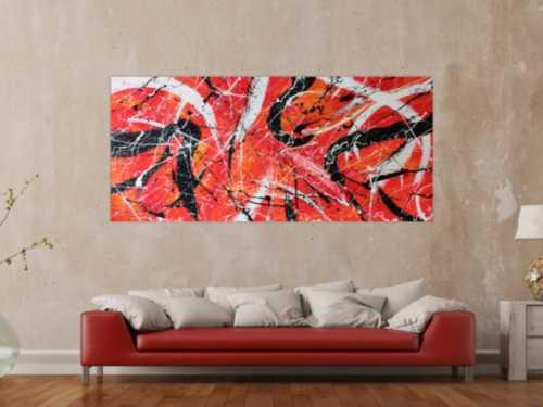 Abstraktes Acrylbild orange