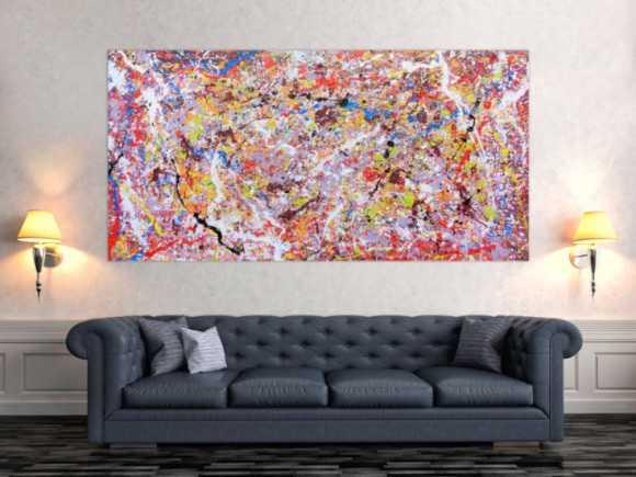 violette abstrakte gem lde online kaufen. Black Bedroom Furniture Sets. Home Design Ideas
