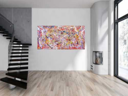 Abstraktes Gemälde bunt und modern