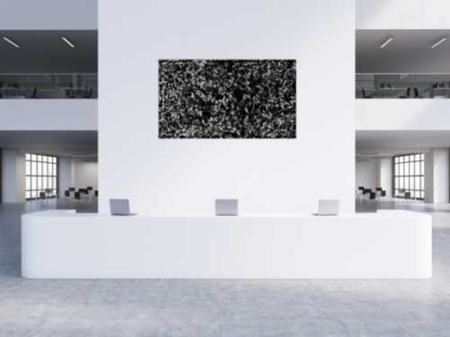 Modernes Acrylbild schwarz weiß