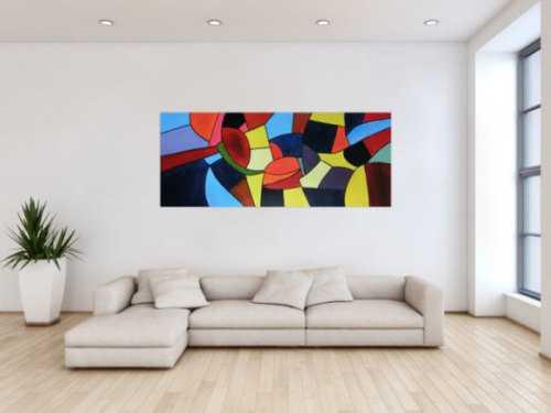 Buntes Acrylbild abstrakt mit vielen Farben