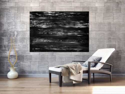 Abstraktes Acrylbild spachteltechnik