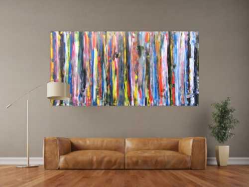 Buntes Acrylbild abstrakt modern und schlicht