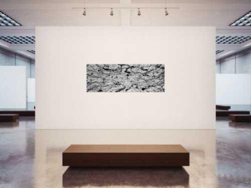 Abstraktes Acrylbild modern art schwarz weiß