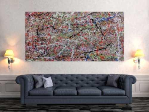 Abstraktes Acrylbild bunt modern spashart
