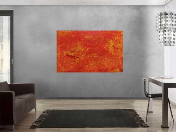 Abstraktes Acrylgemälde orange modern