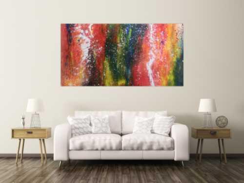 Buntes abstraltes Acrylbild modern viele Farben