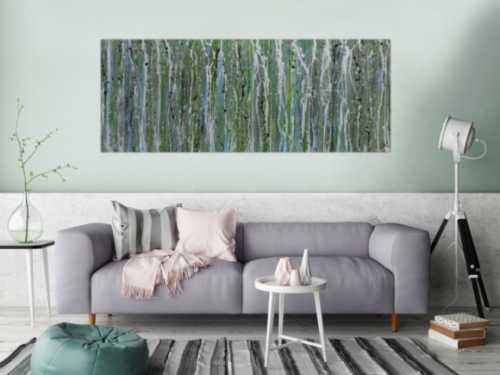 Schlichtes Acrylbild abstrakt modern grün