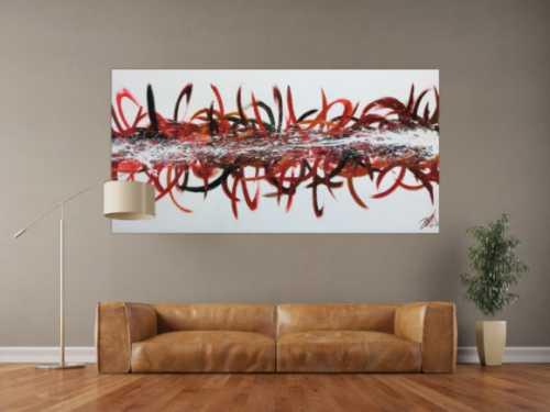 Abstraktes Acrylbild modern bunt