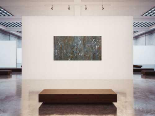 Abstraktes Acrylbild mdoern braun grau schlicht