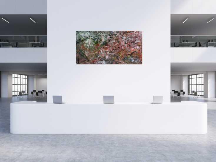 #302 Modernes abstraktes Acrylbild bunt 100x200cm von Alex Zerr