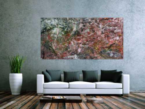 Modernes abstraktes Acrylbild bunt