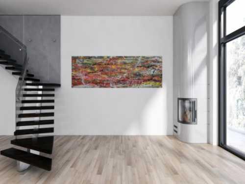 Abstraktes modernes Acrylbild viele Farben bunt
