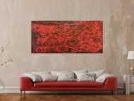 Modernes Gemälde abstrakt rot schwarz schlicht