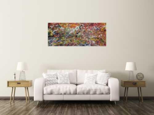 Abstraktes Acrylbild bunt