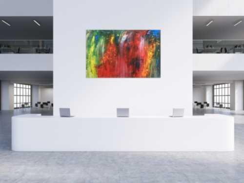 Abstraktes Actylbild bunt modern Loft XXL