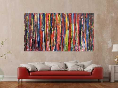 Modernes buntes Acrylbild abstrakt viele Farben