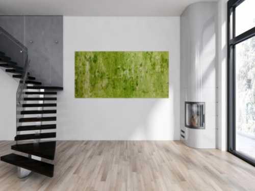 Abstraktes Acrylbild Gemälde grün modern
