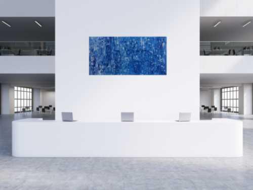 Abstraktes Acrylbild brau modern schlicht