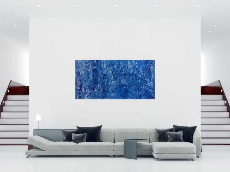 #311 Abstraktes Acrylbild brau modern schlicht 100x200cm von Alex Zerr