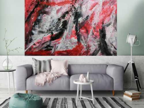 Großes abstraktes Acrylbild modernes Gemälde