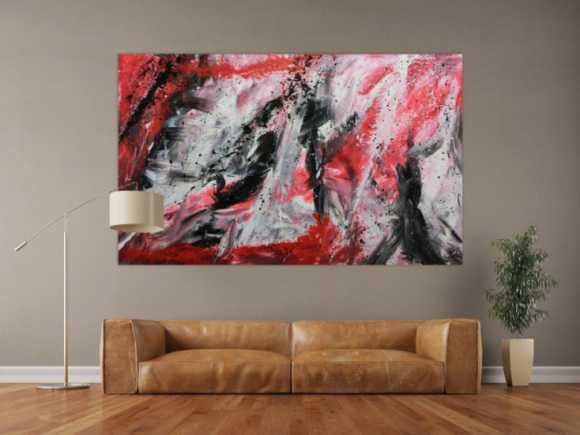 wei e abstrakte gem lde online kaufen. Black Bedroom Furniture Sets. Home Design Ideas