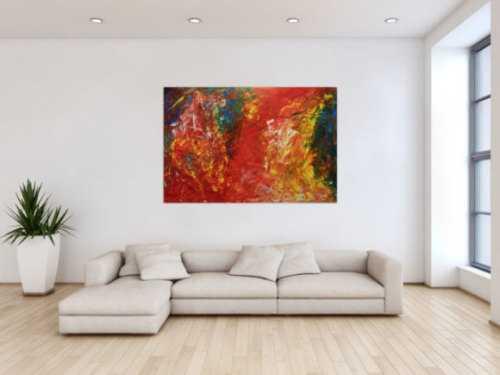 Modernes buntes Acrylbemälde abstrakt viele Farben
