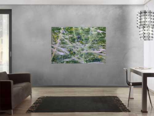 Abstraktes Acrylbild modern in grün