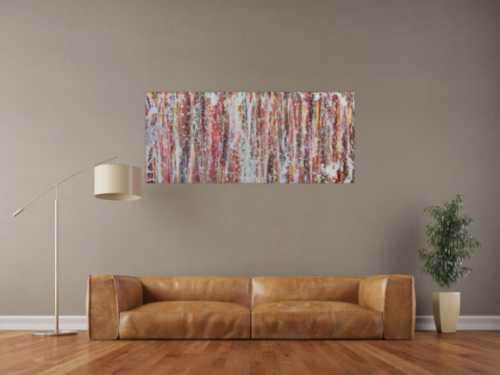Buntes Acrylbild modern abstrakt viele Faben