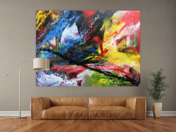 blaue abstrakte gem lde online kaufen. Black Bedroom Furniture Sets. Home Design Ideas