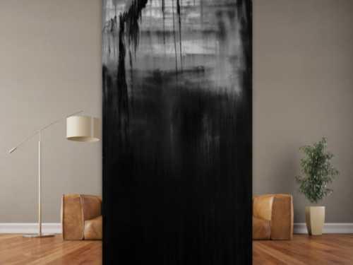 Abstrakes Acrylgemälde dunkel
