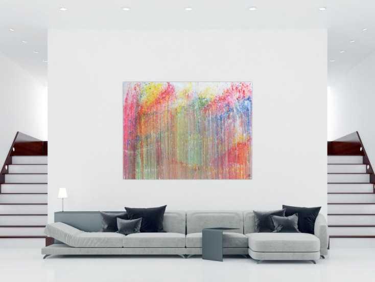 #332 Buntes Acrylbild abstrakt modern und bunt mit vielen Farben 150x200cm von Alex Zerr