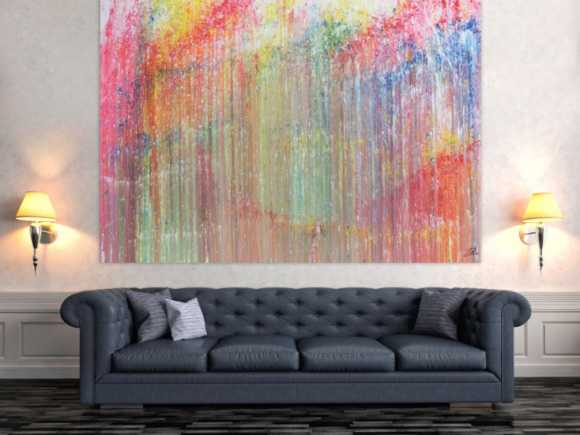Buntes Acrylbild abstrakt modern und bunt mit vielen Farben