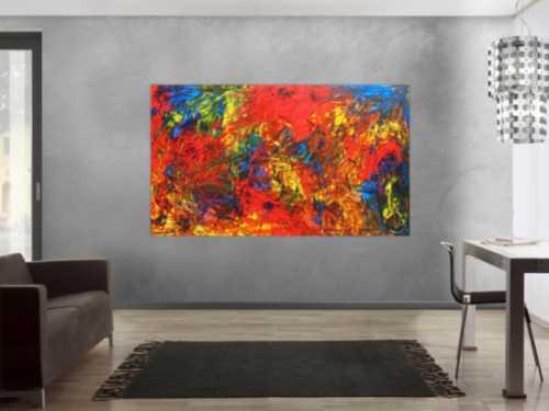 Abstraktes Acrylgemälde bunt modern speziell