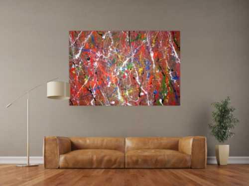 Abstraktes Acrylbild bunt & modern