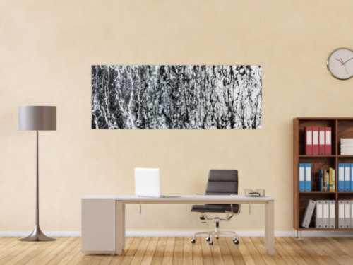 Modernes Gemälde abstrakt schlicht schwarz weiß