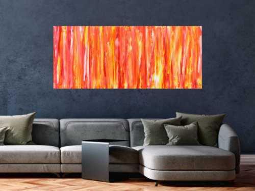 Modernes Acrylbild orange gemütlich schlicht