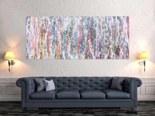 Abstraktes Acrylbild bunt modern farbenfroh
