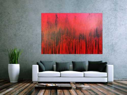 Modernes Acrylbild minimalistisch in rot abstrakt