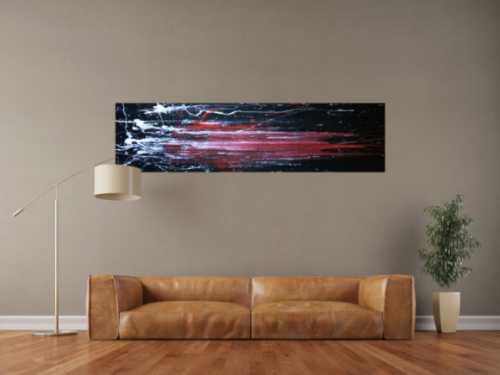 Abstraktes Acryl Gemälde schwarz/rot
