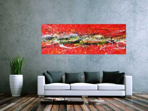 Abstraktes Gemälde rot