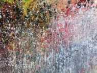 Detailaufnahme Abstraktes Acrylbild bunt modern schönes Gemälde