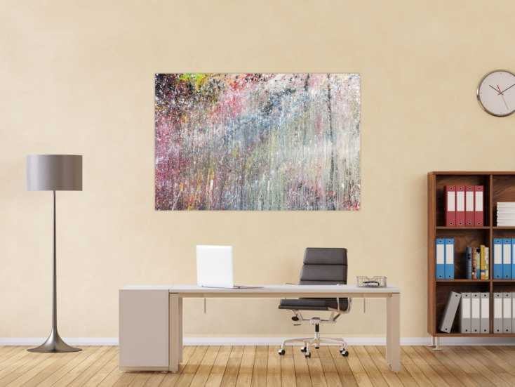 #382 Abstraktes Acrylbild bunt modern schönes Gemälde 100x150cm von Alex Zerr