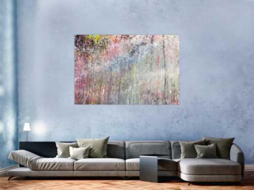 Abstraktes Acrylbild bunt modern schönes Gemälde